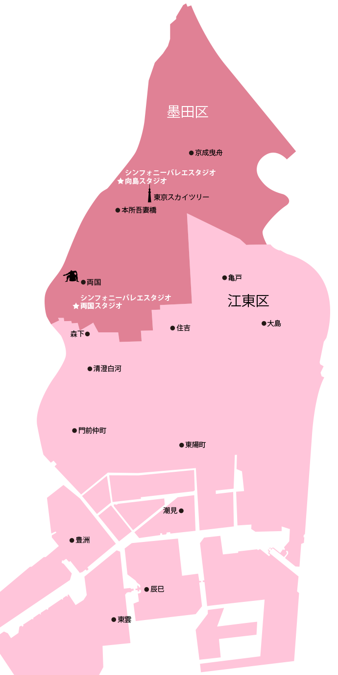 江東区と墨田区の地図
